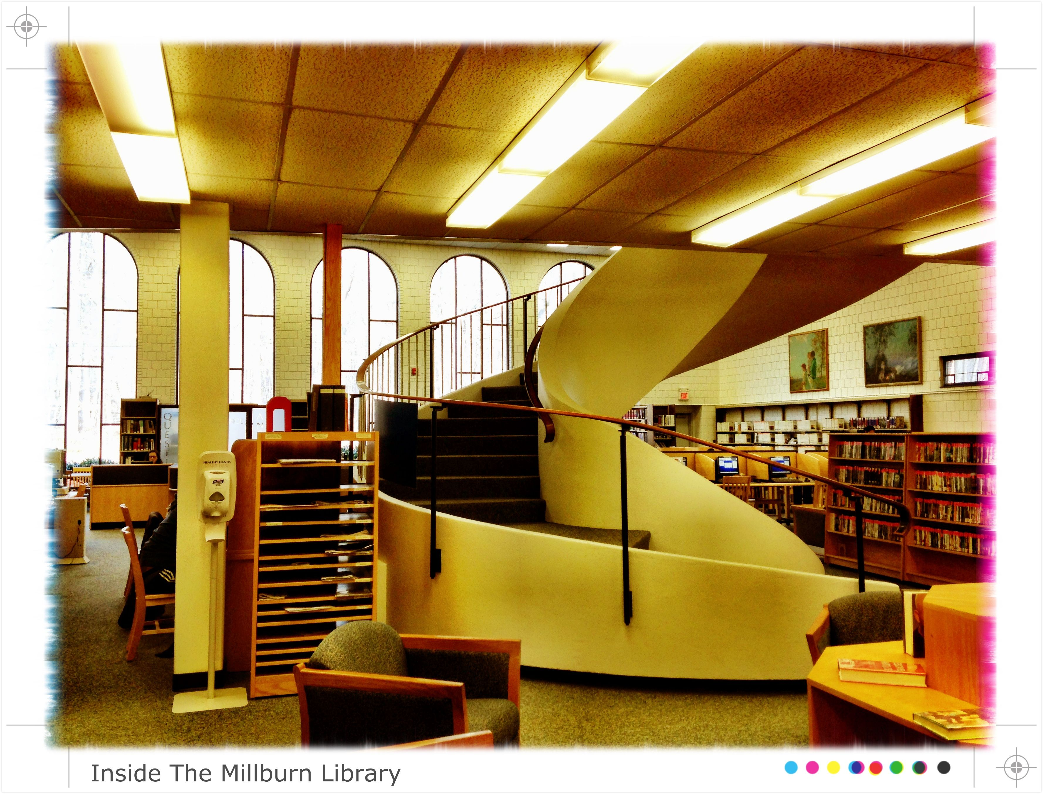 The Milburn free public library circular staircase