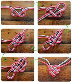como hacer un corazon con lazos