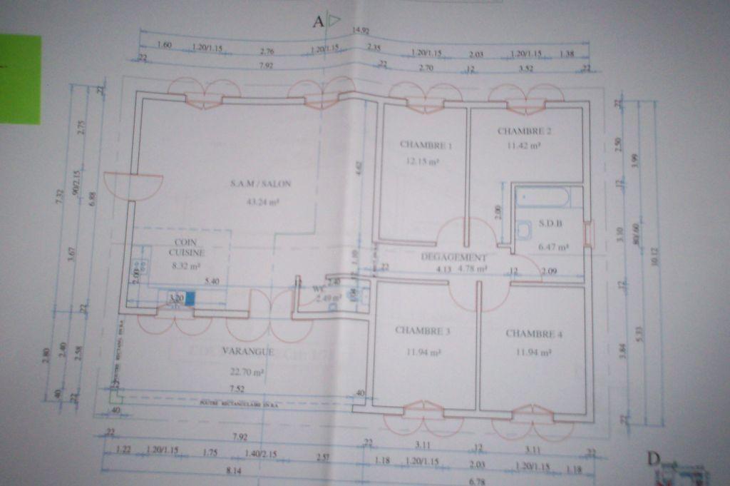Plans rez-de-chaussée - Reunion (974) - janvier 2005 Maison - Construire Une Maison De 200m2
