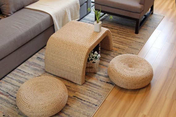 Rustic Coffee Table Set Straw Coffee Table Mothers By Grasshanghai