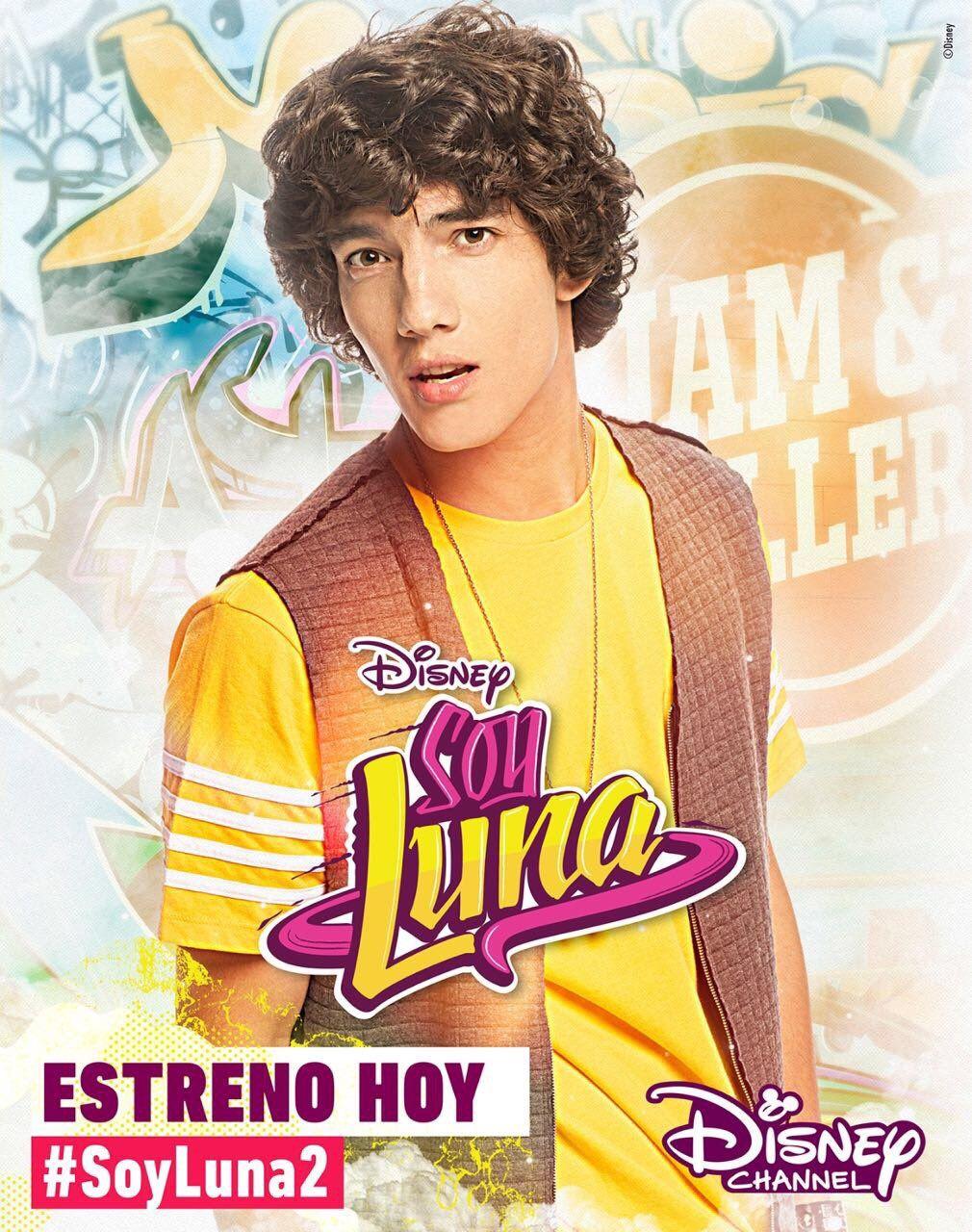 Sou Luna 2 Poster Oficial Do Ramiro Disney Channel Kızlar ünlüler