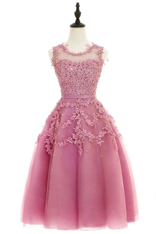d162bbaba2e Evening Short Prom Dress Formal Party Ball Gown Bridesmaid Appliqued Dresses   Ad