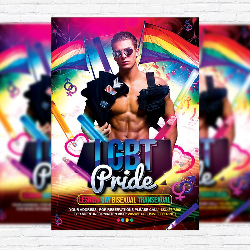 Lgbt Pride  Premium Flyer Template  Facebook Cover Http
