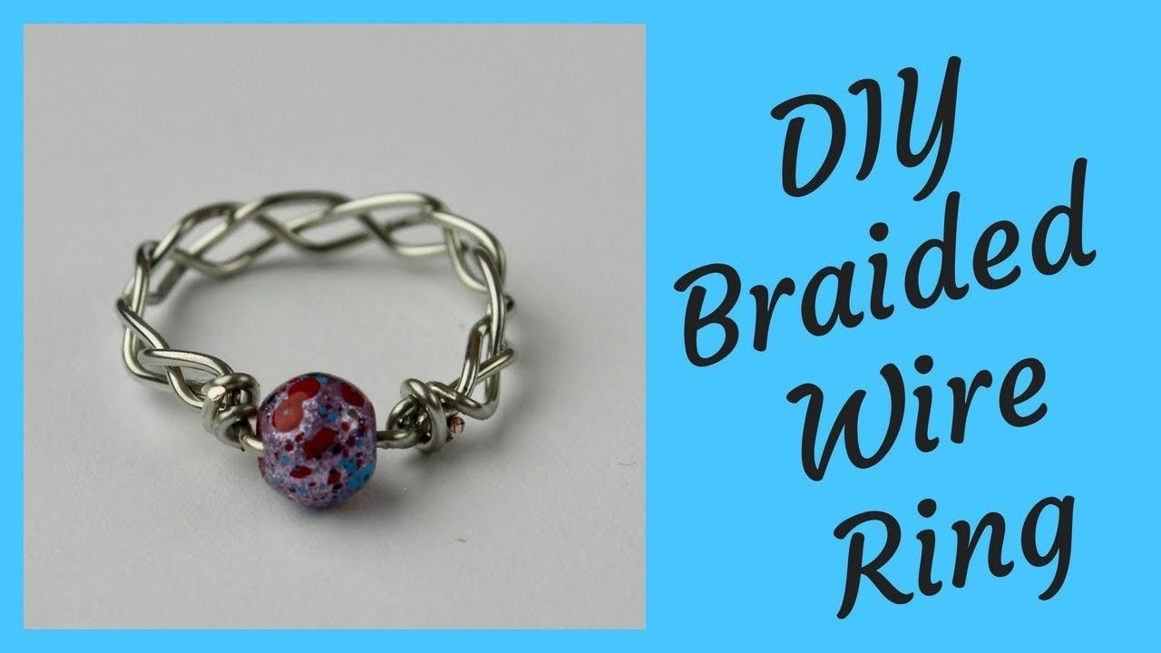DIY Braided Wire Ring Tutorial | My crafts.com | Pinterest | Wire ...