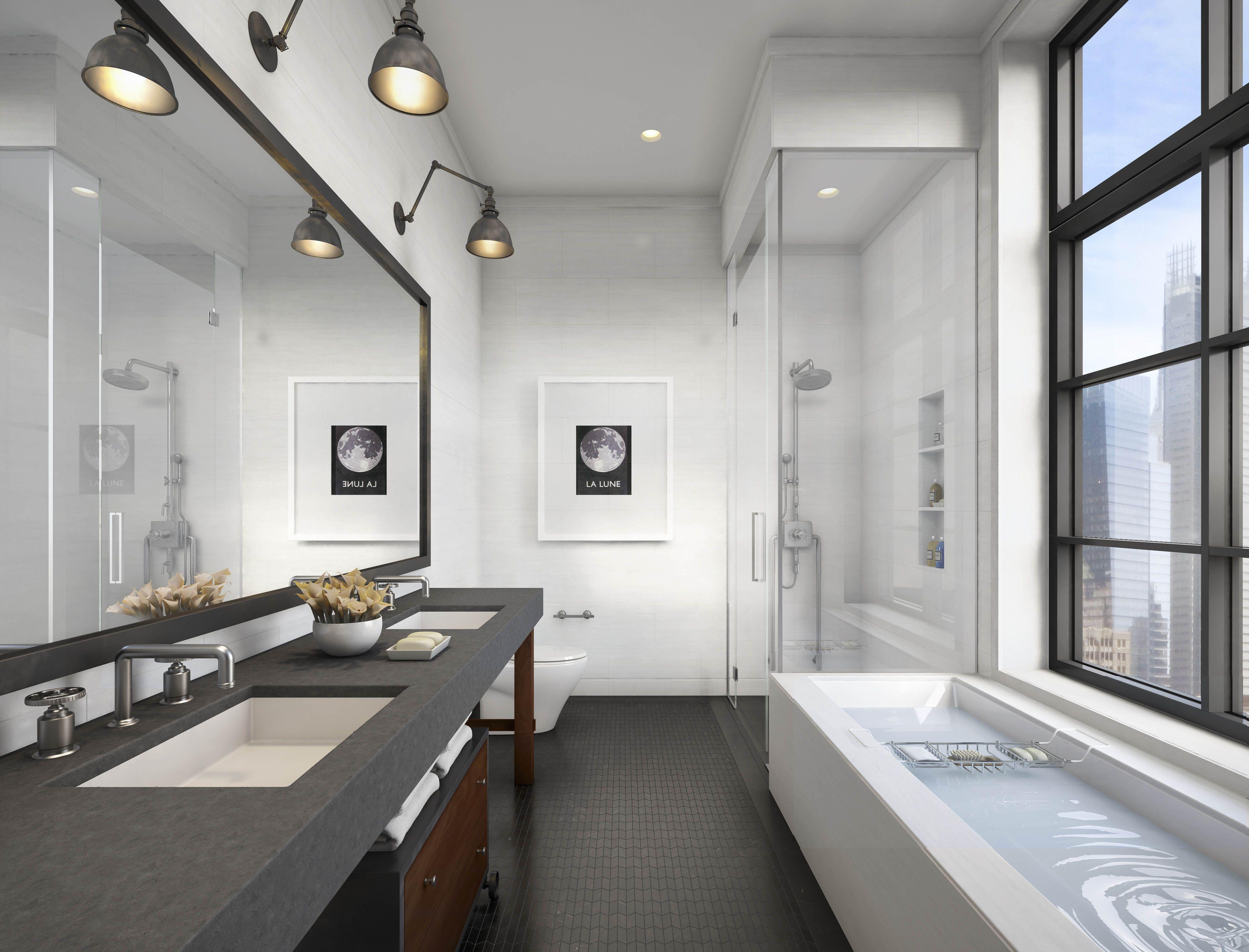 Image Result For Rectangle Bathroom Design Bathroom Industrial