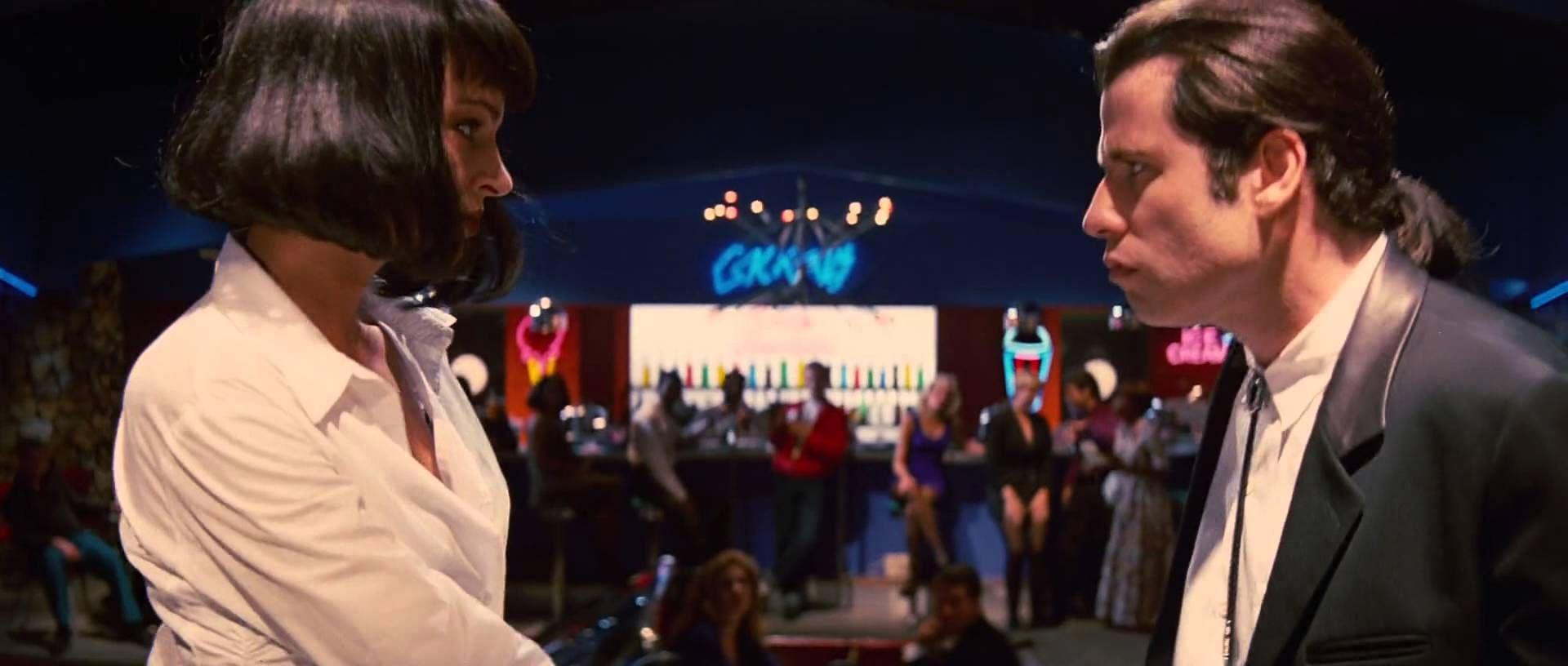 Pulp Fiction 1994 John Travolta Uma Thurman Dance Scene Hd