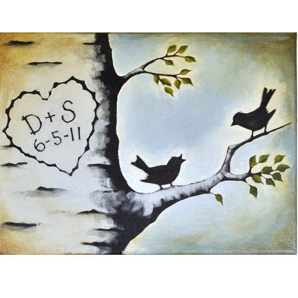 e6f22b708 Personalized Gift for Husband -16 x 20 Inch Original Painting on Canvas -  Anniversary Gift - Rustic Cabin Style. $180.00, via Etsy.