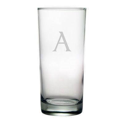 Susquehanna Glass Block Monogrammed Hiball Glass