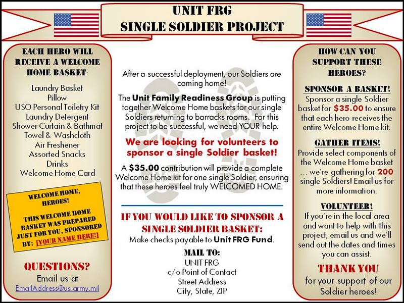 FRG Leaders: Single Soldier Project: Fundraising | Gonna kick ...