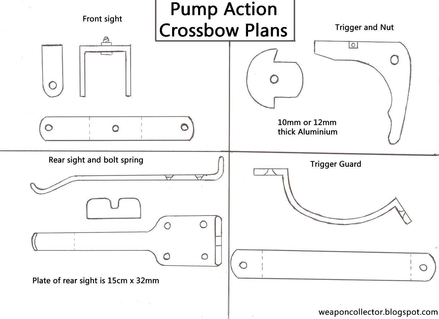 How To Make A Pump Action Crossbow Plans