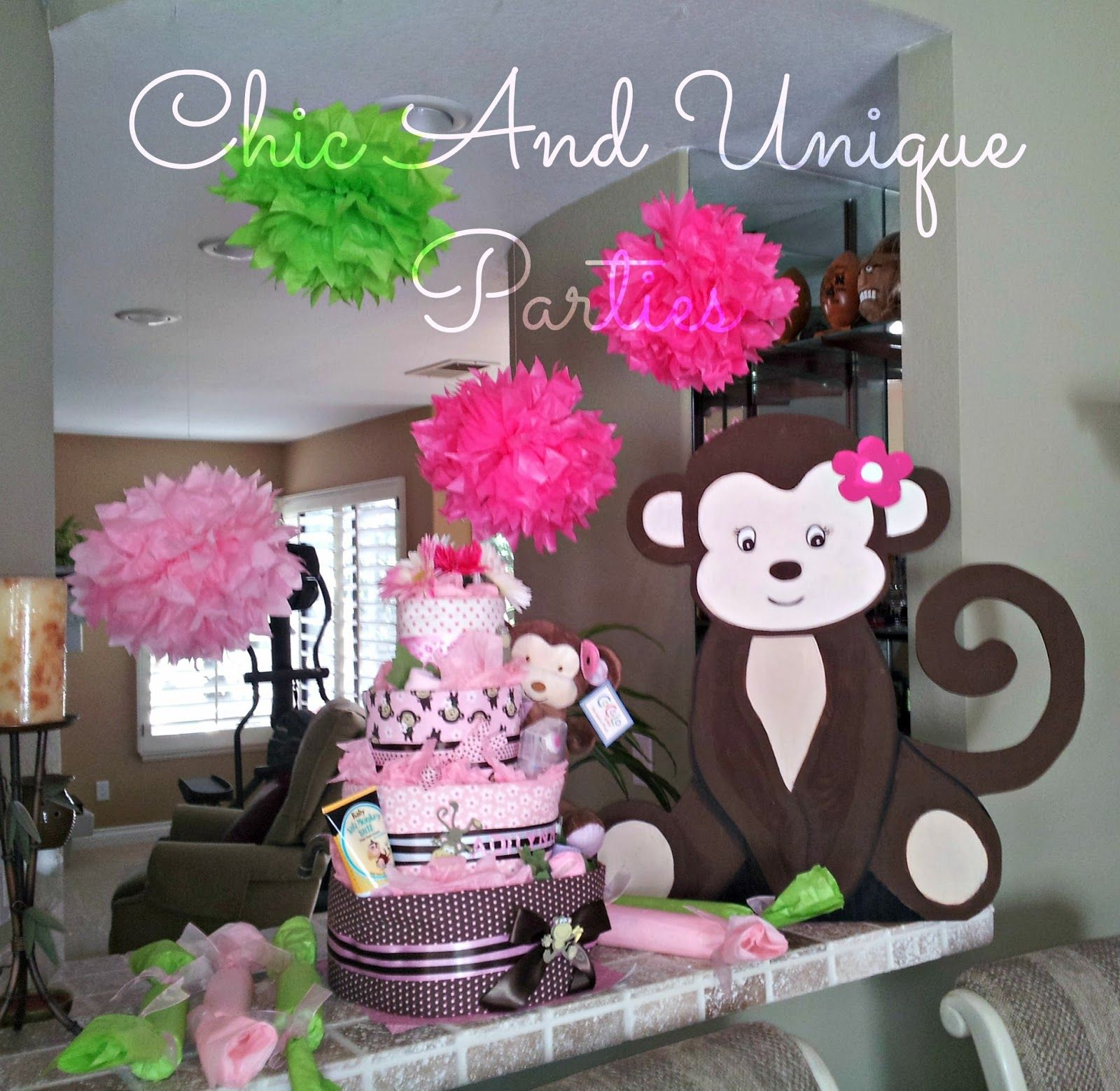 Chic And Unique Parties: Girl Monkey Baby Shower   1600x1558   Jpeg