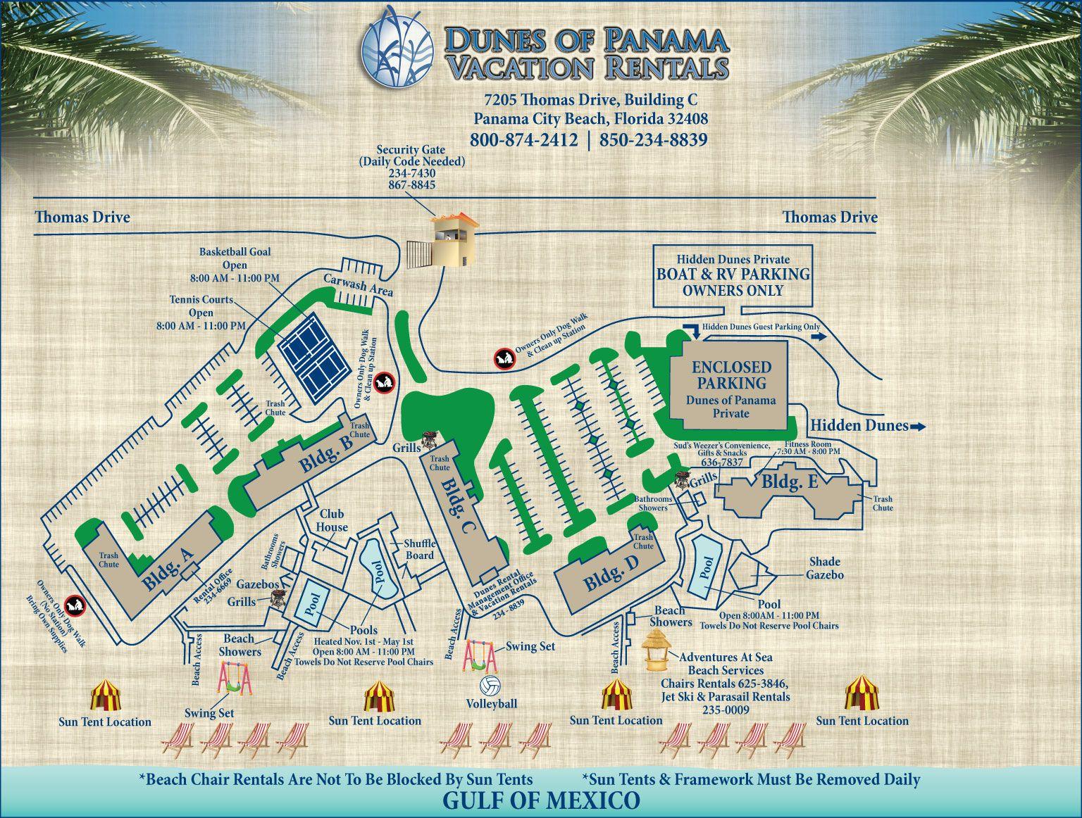 Property Map For Condos City Vacation Panama City Panama Panama City Beach