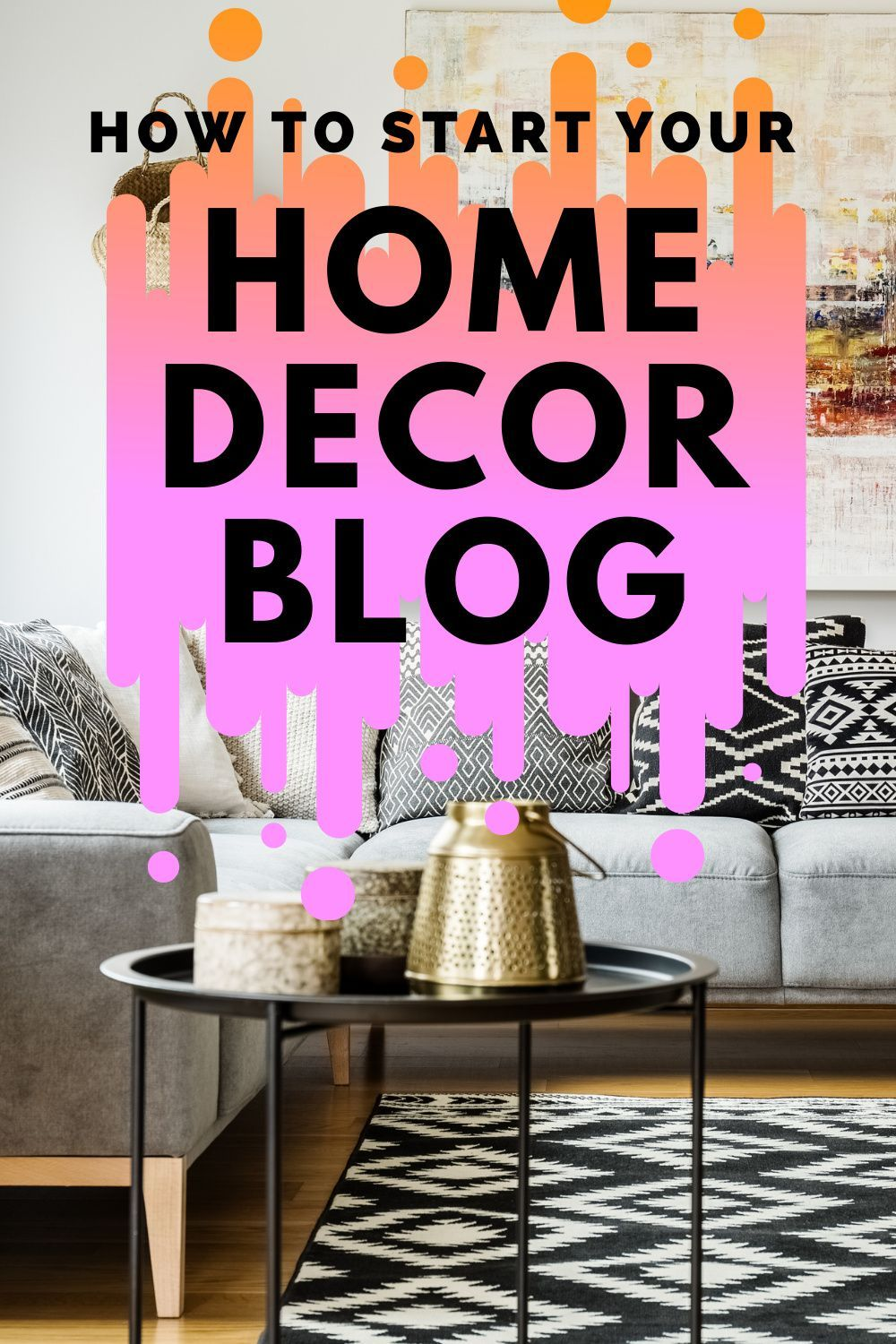Starting a home decorating blog has been one of the most rewarding decisions I've ever made. It drives traffic to my online shop, helps me find like-minded people online, and is an amazing creative outlet. Blogging also came with a lot of learning on the job. Frankly, a lot more than I ever expected. Here's what you need to know if you're thinking about starting a home decor blog. #homedecorblog #homedecorblogging #homedecorblogger #startablog #blogging #blogger