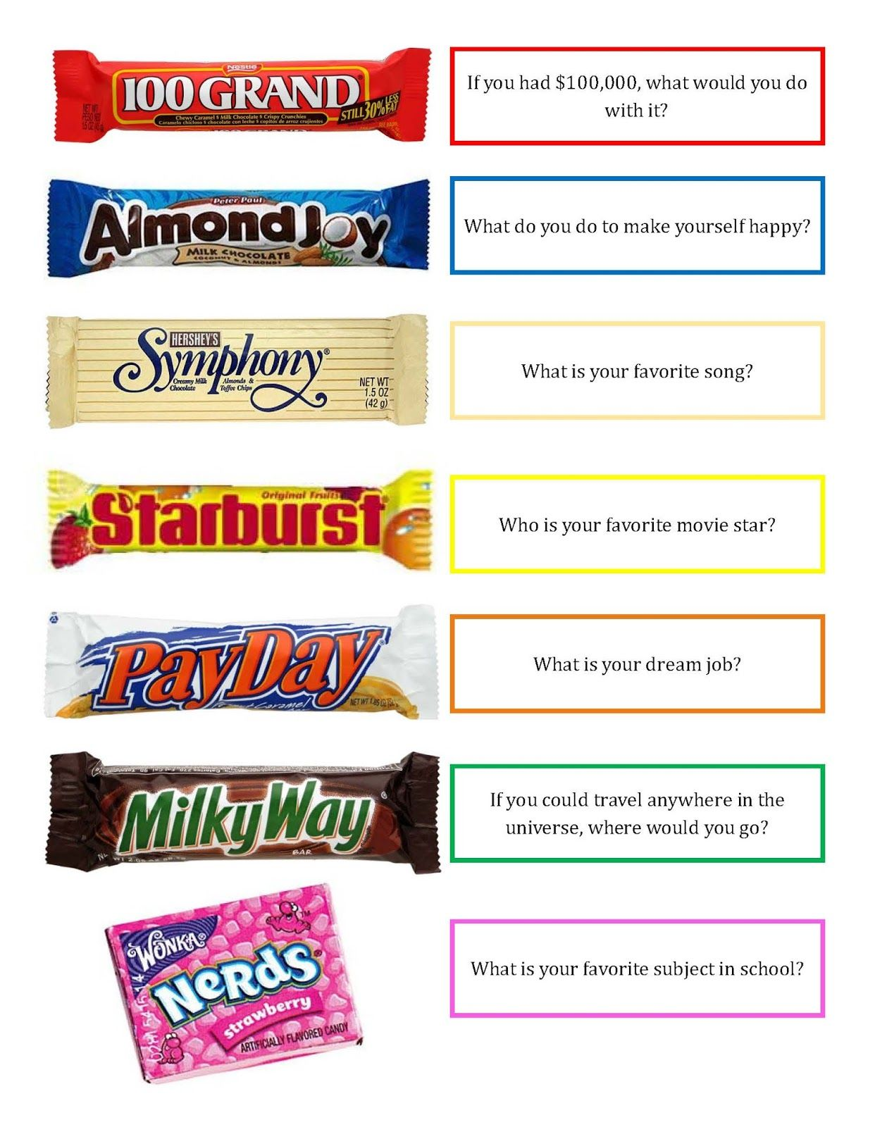 candy bar pick up lines