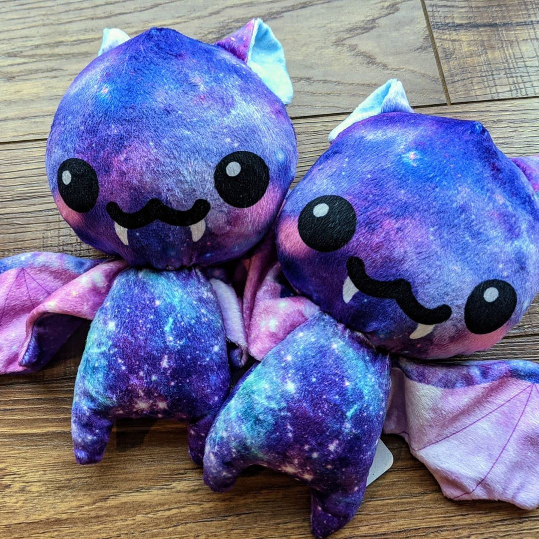 I have 2 galaxy bats available! Message me for details, or pop over to my Facebook page. #bats #spookyseason #halloween #sewing #plush #plushies #stuffedanimals #toys #handmadetoys #sofuzzy #kawaii #craftymom #sewingmom #handmade #crafts #handcrafted #stuffie #softtoy #plushtoy #stuffedtoy #plushielife #plushiesofinstagram #stuffiesofinstagram #stuffies #geekstuff #geeklife #handmadeplush
