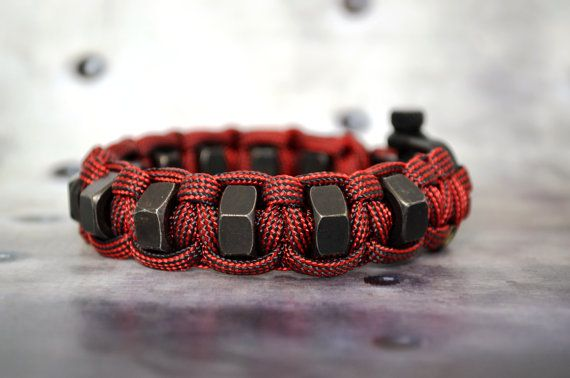 Hex Nuts 550 Paracord Bracelet Handmade In Usa Paracord