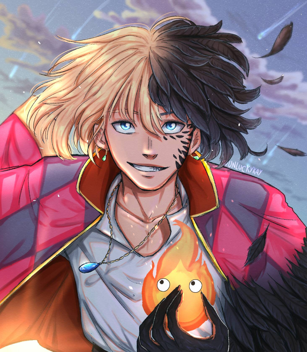 Photo of Howl and Calcifer by unluckykay on DeviantArt