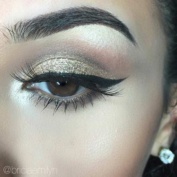 41 Insanely Beautiful Makeup Ideas For Prom Gold Eye Makeup