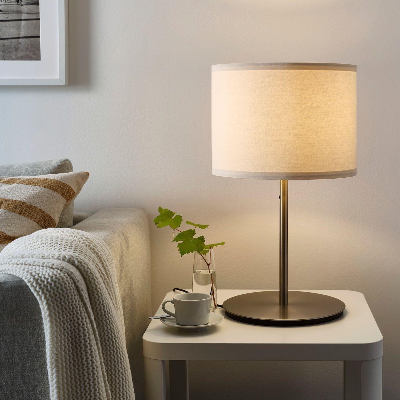 RINGSTA Lamp shade, white IKEA in 2020 | Table lamp base