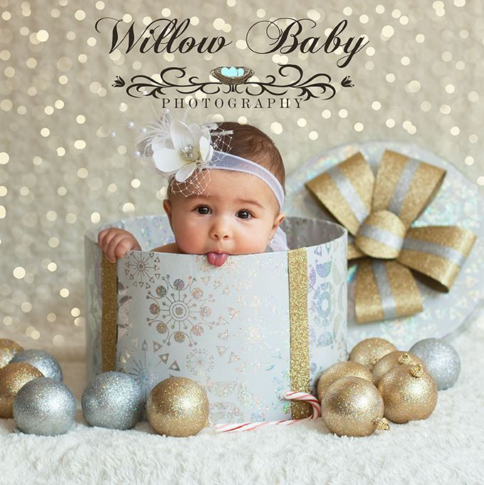 Christmas package with new baby