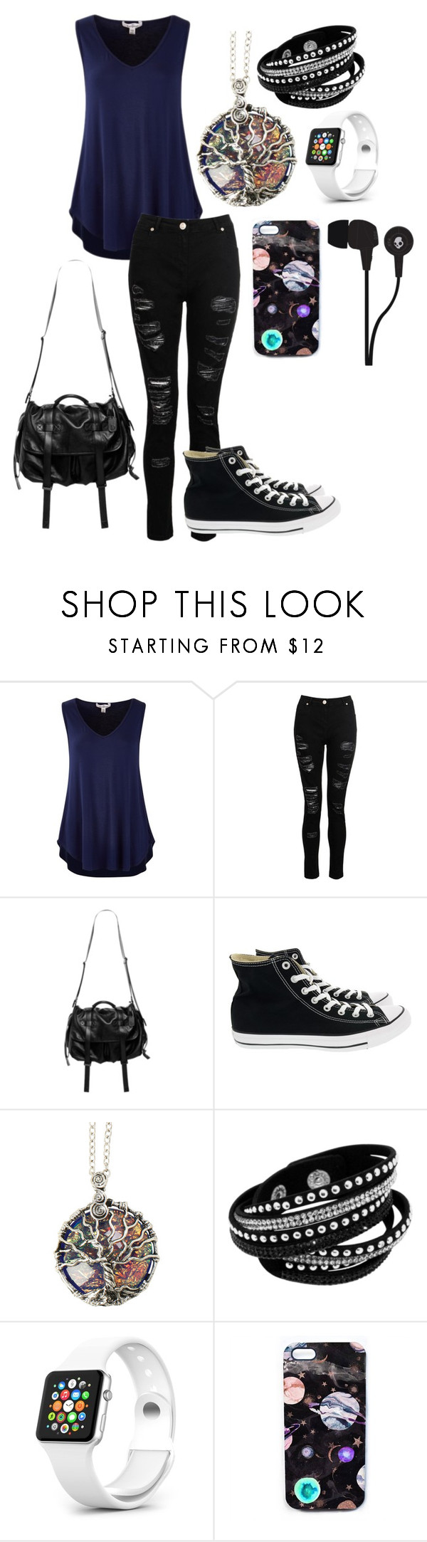 """Casual Chic"" by mimi14senpai ❤ liked on Polyvore featuring Natalia Brilli, Converse, Nikki Strange and Skullcandy"