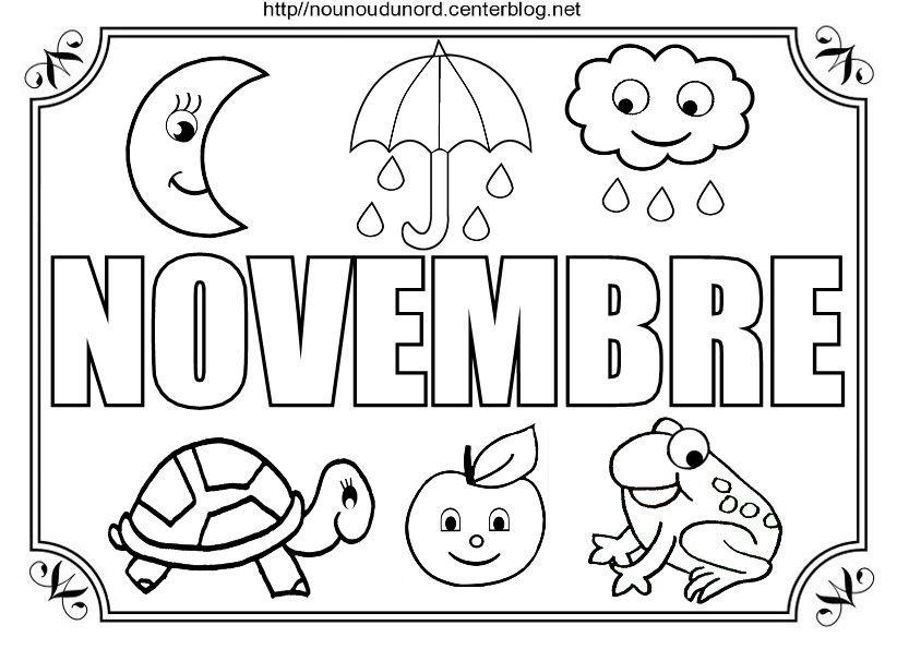 Coloriage Novembre Maternelle