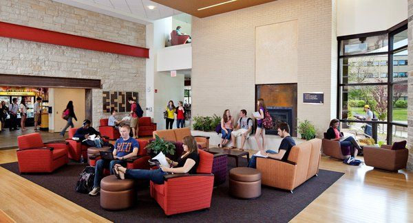 Campus Living Room In The Campbell Student Union Carthage College Wisconsin