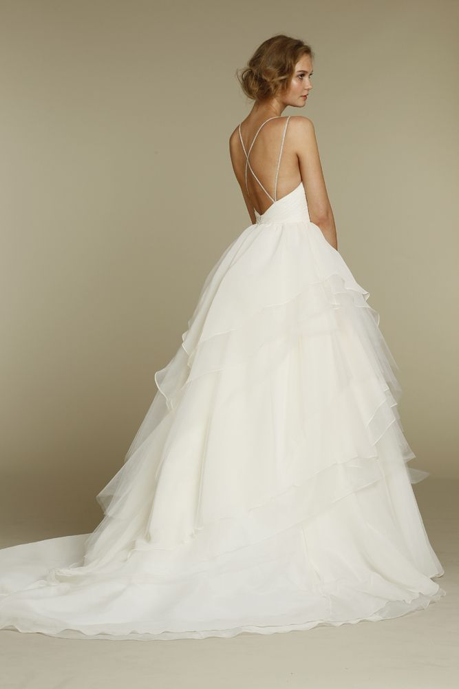Pearl Bridal House » Hayley Paige... A little more modern with the lower  back 058b47ffd6c7