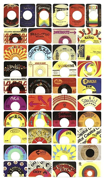 Bunch of cool labels on these old 45's    even a Stax and Soultown