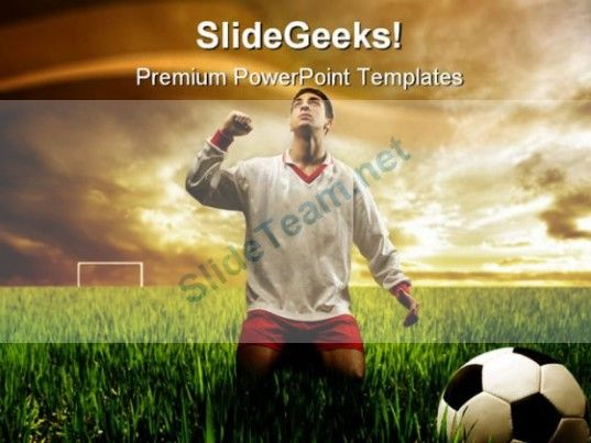 Soccer Player Sports Powerpoint Template  Powerpoint