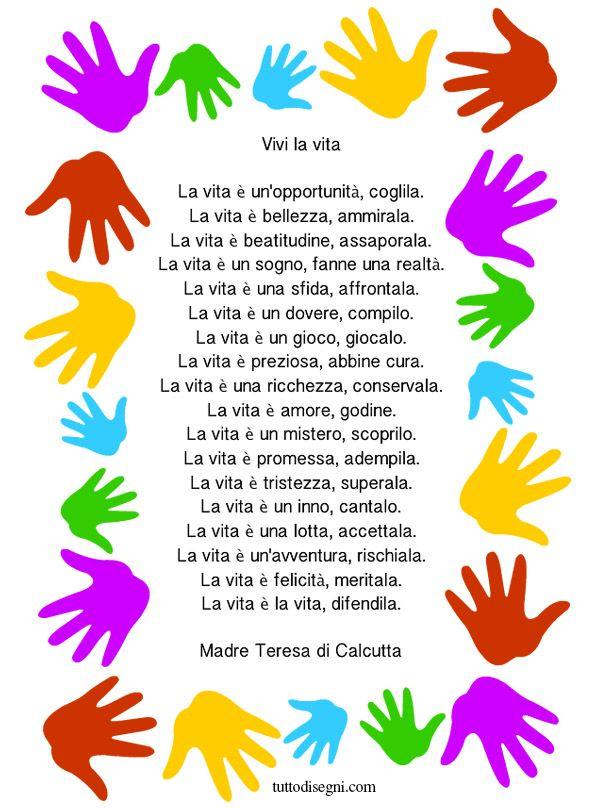 Favoloso Vivi la vita - Madre Teresa di Calcutta - TuttoDisegni.com  KM08