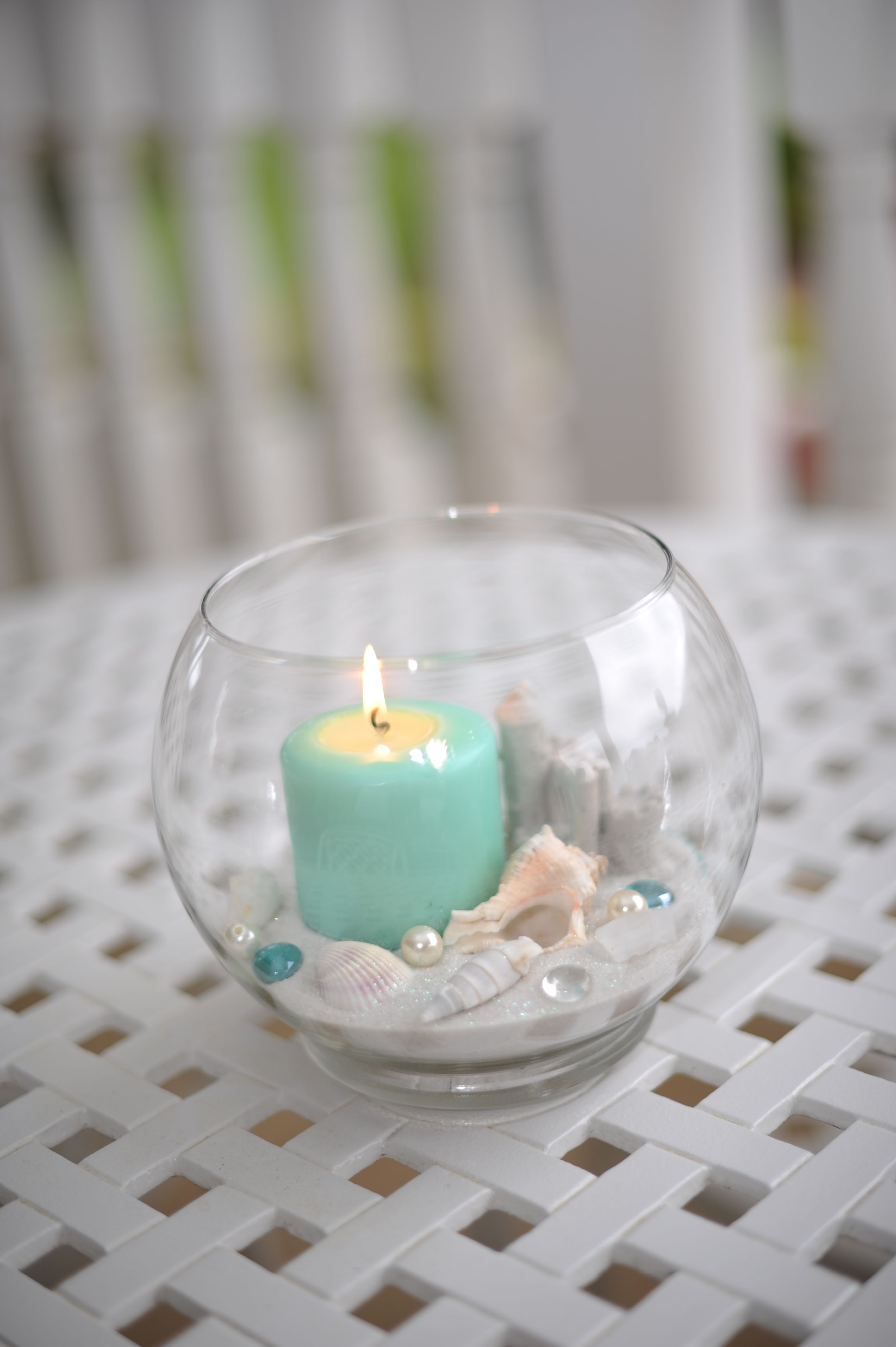 outside table centerpiece   Tiffany Blue/Beach Sweet 16   Pinterest ...