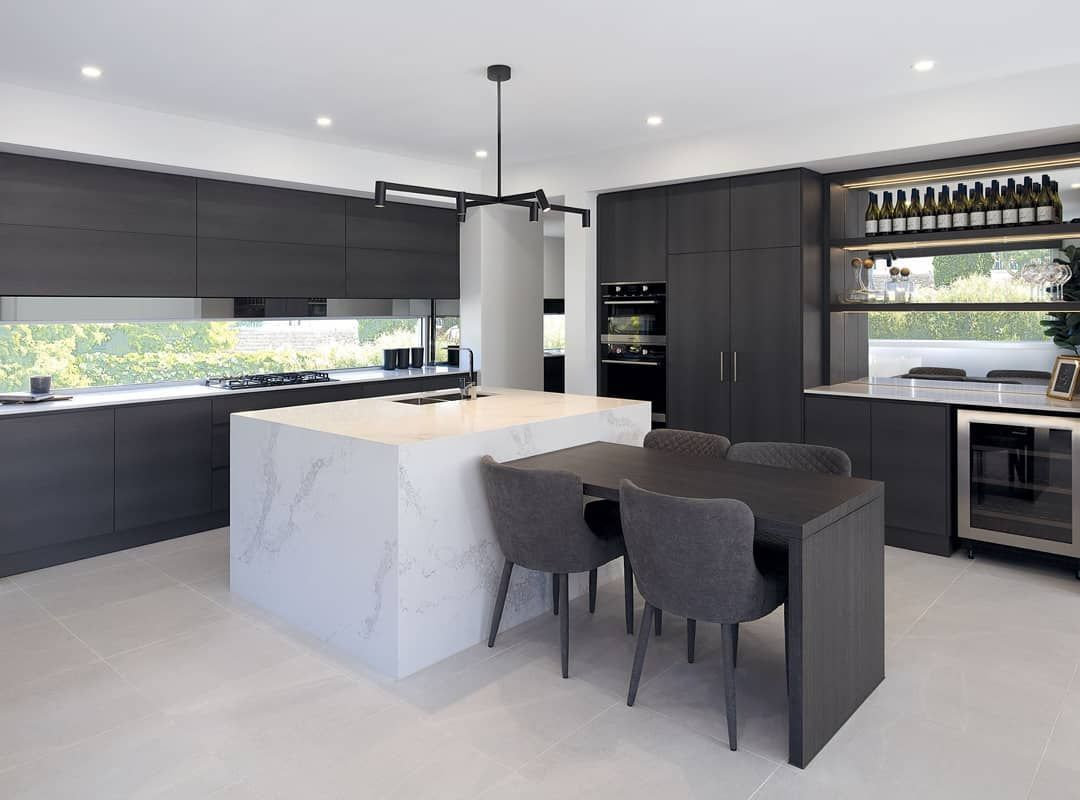 Beautiful Work By R Z Owens Constructions Combining Natural Oak Ravine And Graphite Matt Industrial Style Kitchen Modern Kitchen Design Kitchen Photos