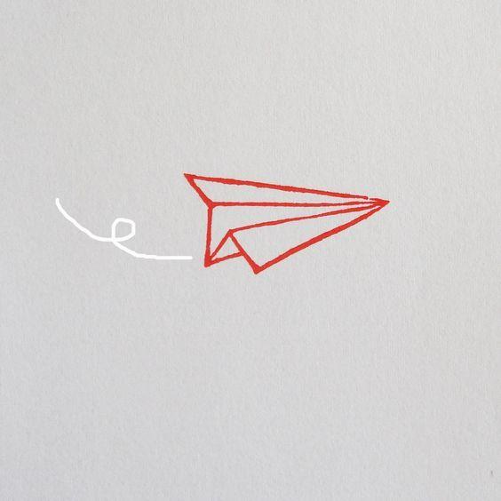paper plane ink pinterest dessin tatouage et avion en papier. Black Bedroom Furniture Sets. Home Design Ideas