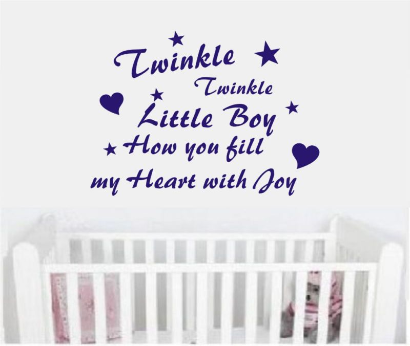 Wall Art Quote Sticker Decal Baby Boy