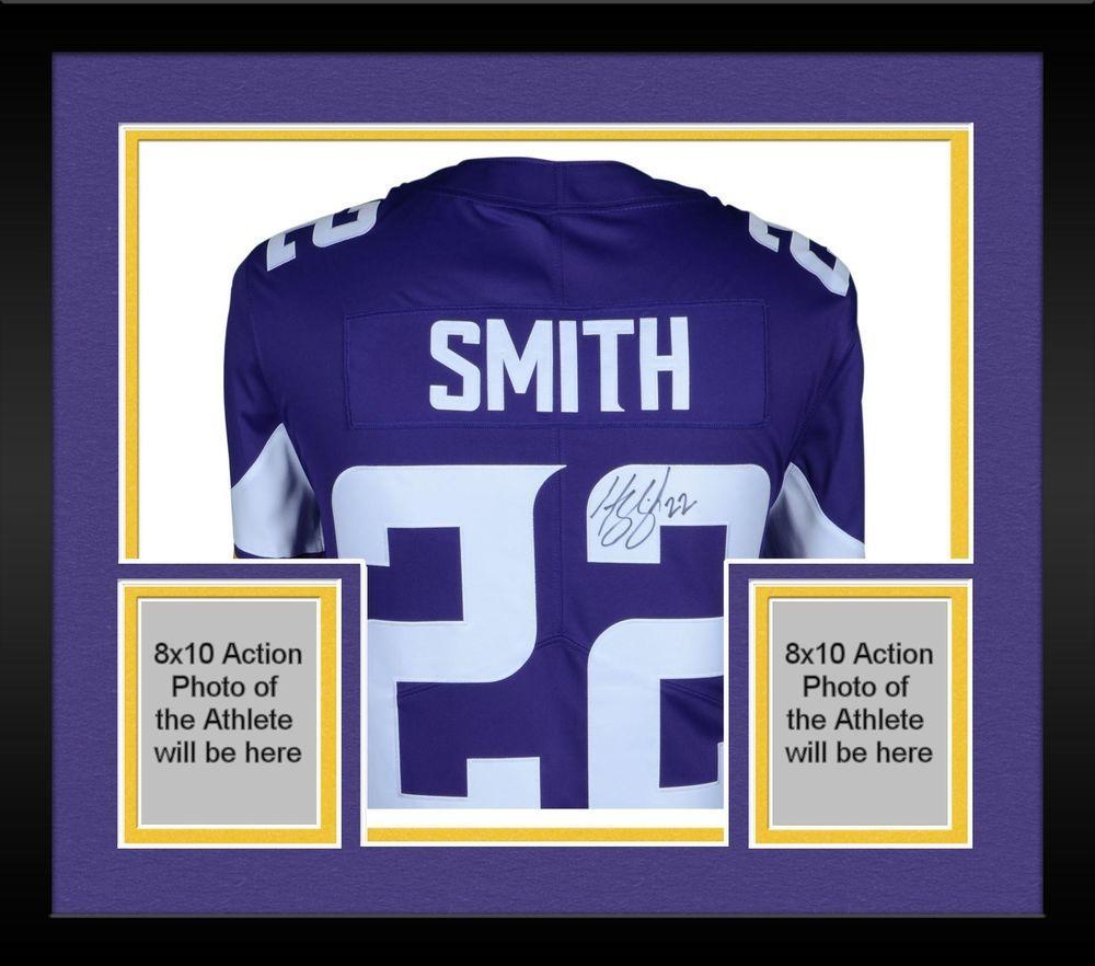 0a9121fe43b Framed Harrison Smith Minnesota Vikings Autographed Purple Nike Limited  Jersey