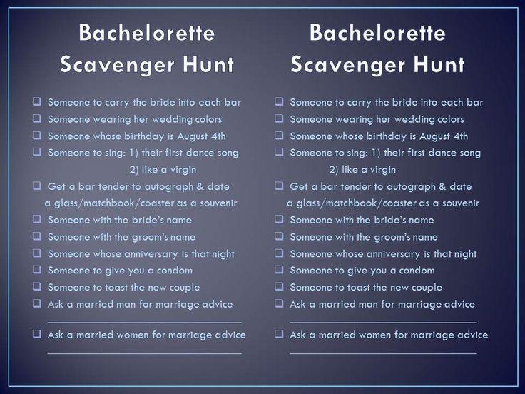 Bachelorette Party Bachelorette Scavenger Hunt Awesome Bachelorette Party Bridal Bachelorette Party