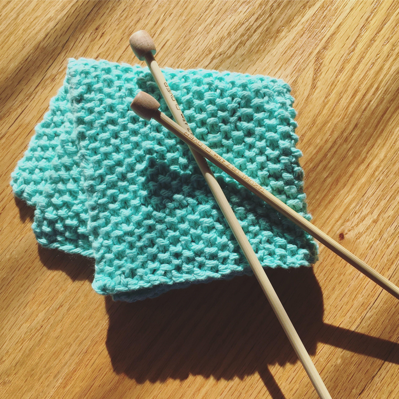 Seed Stitch Washcloth Free Knitting Pattern Bamboo Knitting