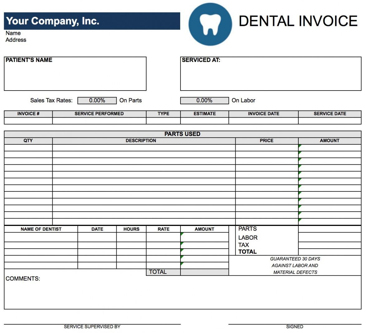 Explore Our Free Medical Itemized Receipt Template