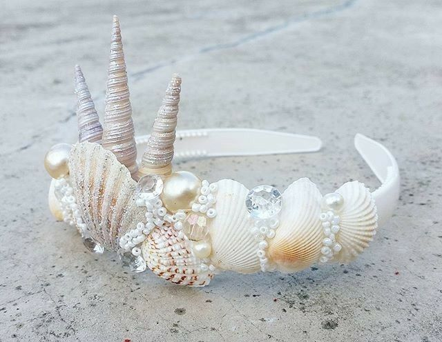 Seashell mermaid crown