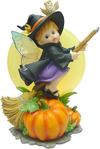 My Little Kitchen Fairies - Spooky Halloween Moon Faerie