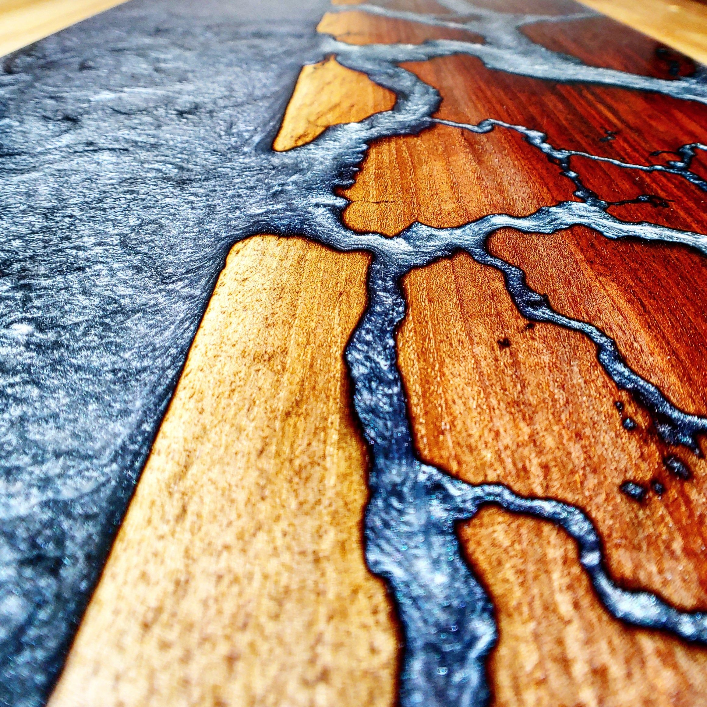 Custom Estuary River CoffeeTable