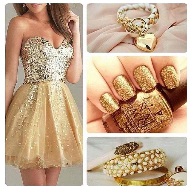 Dont like gold that much but this outfit is so adorable!!