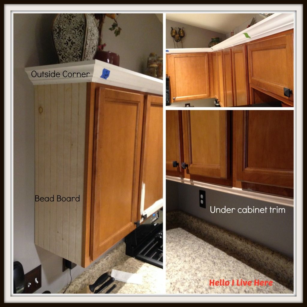 Kitchen Cabinet Makeover Install Crown Molding Crown Installed Kitchen Cabinets Kitchen Cabinets Makeover Cabinet