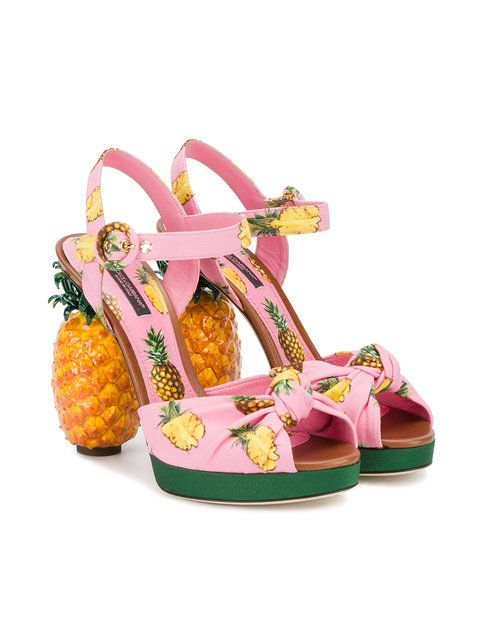 d8eeaf80d426 Dolce   Gabbana sandales à talon ananas
