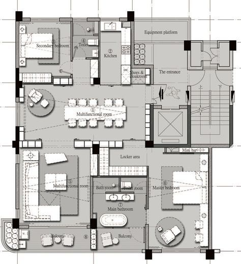 04范继景160户型jpg Residential  plans Pinterest Apartments - Apartment House Plans