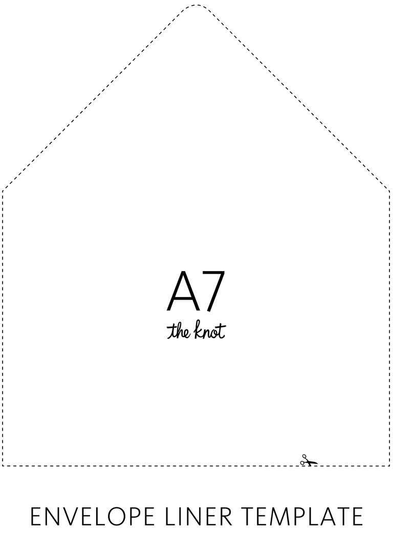 Envelope Liner Template  Envelopes
