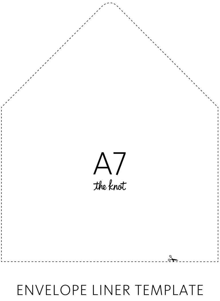 Elegant Envelope Liner Template | TheKnot.com