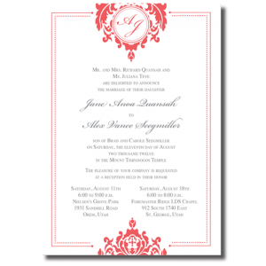 Salt Lake Wedding Invitations and beyond 93 One Sided Utah