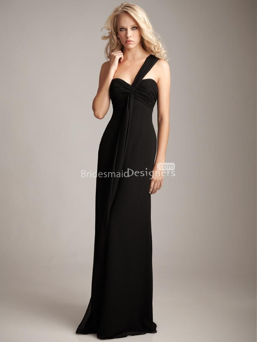 Black one shoulder bridesmaid dresses – Dress ideas